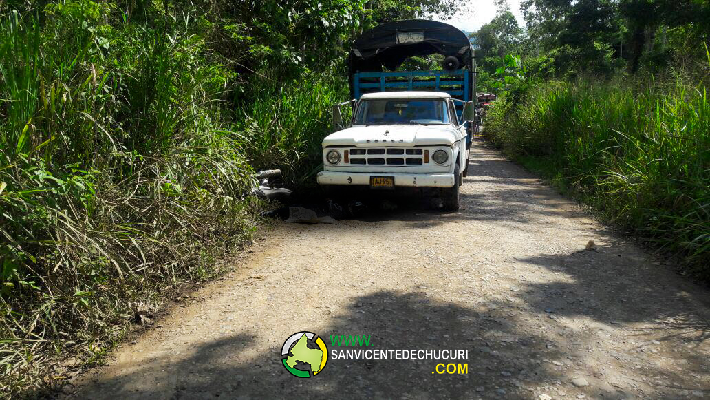 """Fatal accidente vía al """"matadero"""" en San Vicente de Chucurí"""