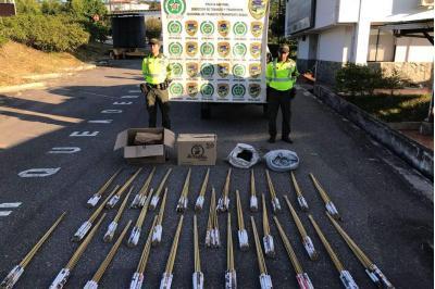 Policía incautó 200 kilos de pólvora procedentes de San Vicente de Chucurí