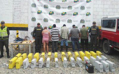 PONAL captura ladrones que pretendian saquear torres de telefonía celular e internet en San Vicente de Chucurí