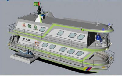 Inicia construcción de la embarcación náutica que tendrá la funciones de CAI Fluvial en el embalse de Topocoro