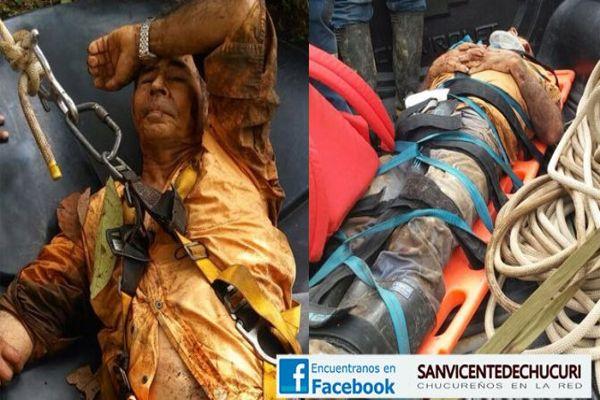 Hombre que sobrevivió a caída de unos 70 metros en San Vicente de Chucurí se recupera en una clínica de Bucaramanga
