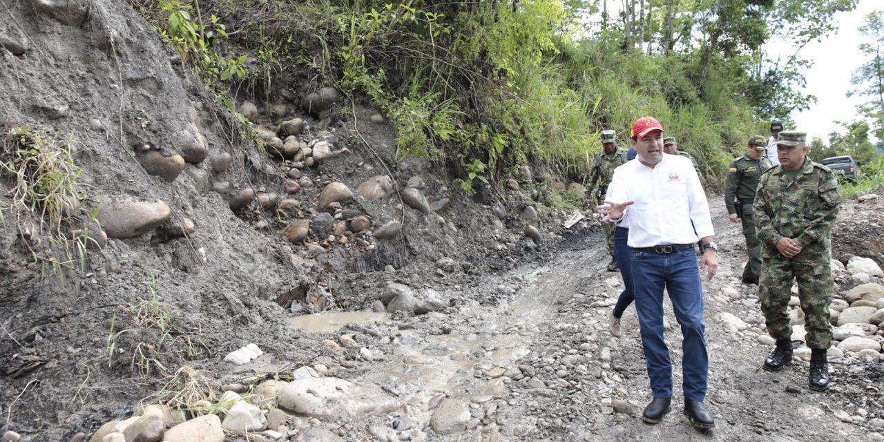 Gobernador supervisa obras de mitigación en San Vicente de Chucurí