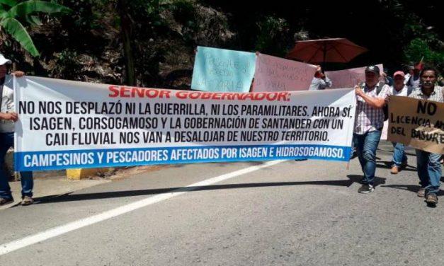Bloqueos en la vía Barrancabermeja – Bucaramanga por protesta contra Isagen