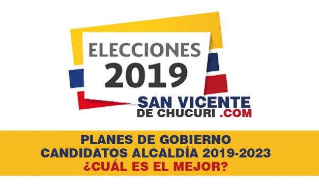 Conoce los planes de gobierno de los candidatos a la Alcaldía de San Vicente de Chucurí
