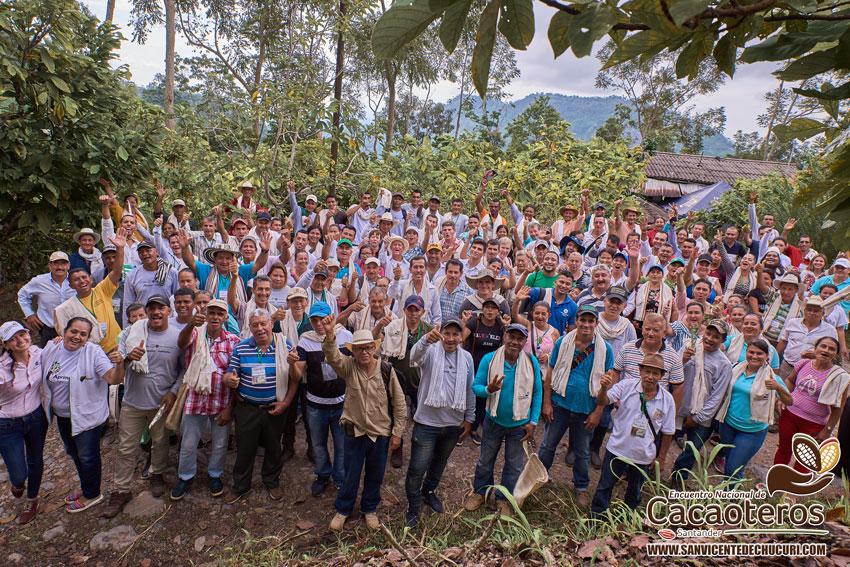 En San Vicente de Chucurí se celebró el Primer Encuentro Nacional de Cacaoteros